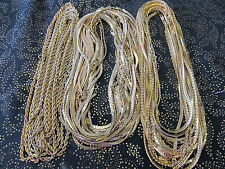 """Lot of 35 Unisex Gold Plated 18"""" Chain Necklace Assortment $244.65 Value"""
