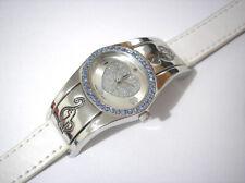 Silver Tone Metal Case Baby Phat Ladies Watch w Blue Stones Item 2946