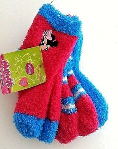 Girl's Minnie Mouse 3 pair No-slip socks size 18-24 months