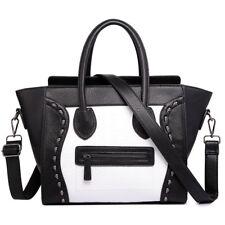 Ladies Designer PU Leather Style Skull Smile Bag Shoulder Bag Tote Handbag