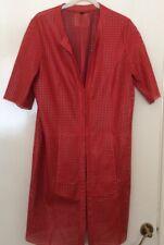 Spoftaum Red Leather Ladies Size 10 Jacket Very Unusual Design
