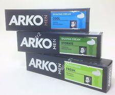 ARKO Mens Shaving Cream  3 x 3.4 oz , 3 types arko mix set FRESH,COOL,HYDRATE