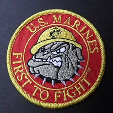 USMC US MARINE CORPS BULLDOG FIRST TO FIGHT EMBROIDERED MARINES PATCH 3 inches