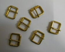 50 x Small Gilt Roller Buckles, SGB1. 20mm. Ideal for Belt Making etc