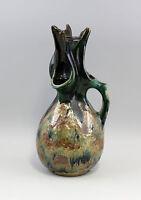 99845108 Ausgefallene Henkel-Vase Keramik Jugendstil lüstriert