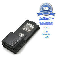 BAOFENG Pofung BL-5L 3800mAh 7.4V Extended Li-Ion Battery for UV-5R Radio Black