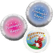 Balwns Gymraeg Penblwydd Happus - Happy Birthday Welsh Foil Balloon 18 Inch Foil