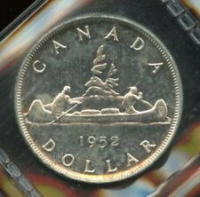 1952 Canada Silver Dollar Water Lines WL - ICCS MS-64