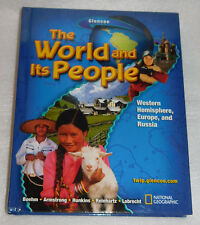 Geography middle school textbooks ebay glencoe world its people western hemisphere europe russia hc 2005 geography sciox Choice Image