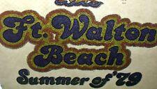 1970S *Ft Walton Beach Summer 79* T-Shirt *Iron-On* Transfer Lot (20) Glittery M