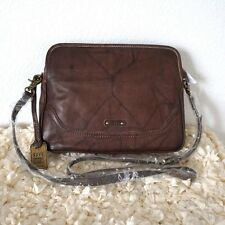 NWT Frye Campus Crossbody Messenger Handbag Leather Clutch Walnut