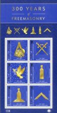 Isle of Man-300 Years of Freemasonry--Special min sheet & Folder mnh 2017