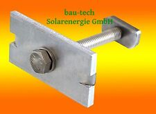 50 Stück Modul - Mittelklemme 40mm für Photovoltaik - Module PV Solar Alu Profil