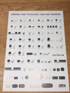 VITRA / CHARLES EAMES POSTER - Designs that transcend time and fashion