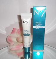 Boots No 7 No7 Protect & Perfect INTENSE ADVANCED Beauty Serum 1oz