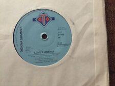 "Donna summer - love's unkind- great condition uk 7"" vinyl"