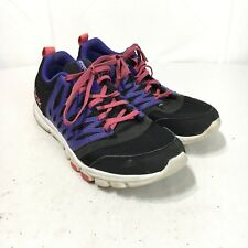 a8477c40f839 Reebok Training Women s 11 Purple Black Pink Lace Up Athletic Running Shoes