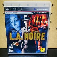 L.A. NOIRE PLAYSTATION 3 PS3 COMPLETE IN BOX W/ MANUAL CIB - TESTED - FAST SHIP