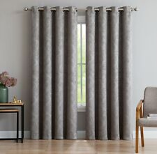 Evelyn Thermal Privacy Blackout Curtain Grommet Panels & Wall-to-Wall Pairs