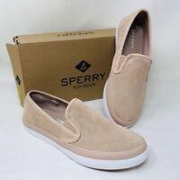 Sperry Women's Seaside Suede Slip-On Sneaker, Rose Pick A Size, Store Display