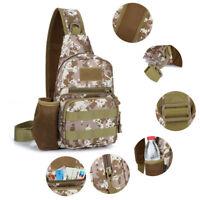 Men's Camouflage Shoulder Bag Outdoor Travel Military Tactical Sling Chest Pack