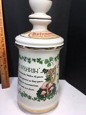 OLD FITZGERALD BOURBON DECANTER The Wearin' O'The Green Wisconsin Tax Sticker