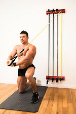 NEW! WORKOUT EQUIPMENT - RESISTANCE TUBES HOME TRAINING - COMPACT GYM