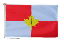 More details for royal canadian infantry corps flag with rope and toggle - various sizes