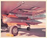 Original Vintage Photograph Missile Mounted On USAF Plane  #96