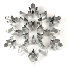 Large 3D Snowflake Cookie Cutter Christmas Pastry Biscuit Stainless Steel Cutter