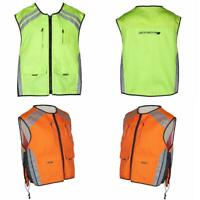Spada High Visibility Reflective Motorcycle Vest Hi Viz Waist Coat Yellow Orange