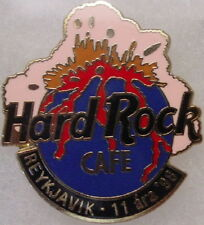 Hard Rock Cafe REYKJAVIK 1998 11th Anniversary PIN Erupting Volcano on HRC Logo!