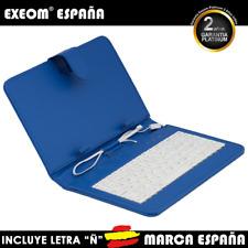 """Funda con Teclado en Español para Tablet Pc 8"""" CoverPAD Azul Marca España"""