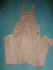 ROCKIES beige denim bib carpenter overalls 34x35 in excellent condition