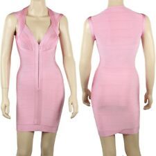 Celebrity Style Womens Formal/Clubbing Pink Bandage Bodycon Dress (Size S)