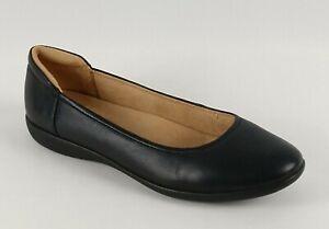 Naturalizer Womens Flexy Ballet Flats Sz 10M Black Leather Comfort Slip On Shoes