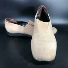 Donald Pliner Sport Italy Ivory Beige Canvas and Suede Loafers Wm Size 9 1/2
