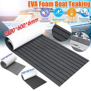240x60CM Teak EVA Schaum Boot Yacht Selbstklebend Bodenbelag Deck Teppich Matte