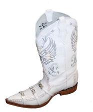 Men genuine cowhide elephant print with decorative  print cow boy boots