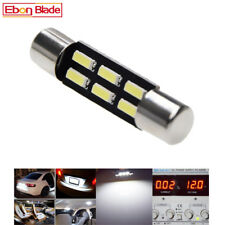 2X 6 SMD LED 4014 28mm T6.3 Car Interior Dome Festoon Bulb Light Lamp White 12V