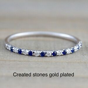 1mm sapphire eternity ring size i 4.5