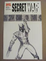Secret War #2 Marvel 2nd Print B&W Variant 1st app Daisy Johnson Quake 9.6 NM+