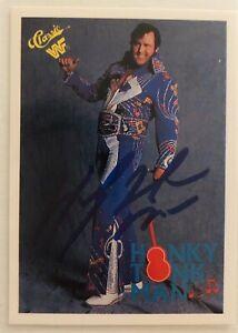 HONKY TONK MAN LEAF WRESTLING ON CARD WWF AUTO w/COA