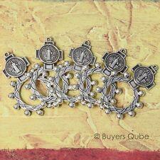 "5/PK Beautiful St. Benedict Pocket Finger Rosary Ring 10 Beads 1.88"" H"