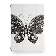 For iPad Air 2 Soft Leather Smart Cover Case w/Auto Sleep/Wake Butterfly