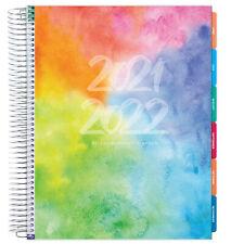 Deluxe 2021 2022 Planner 85x11 Rainbow Watercolor