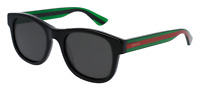 *NEW AUTHENTIC* GUCCI GG0003S 006 BLACK GREEN FRAME,GREY POLARIZED LENS, SIZE 52