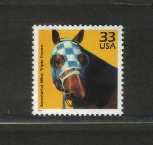 Secretariat 1973 Triple Crown Kentucky Derby horse racing mint US postage stamp