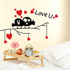 00686 Wall stickers Adesivi murali Uccellini Love U 100x60 cm