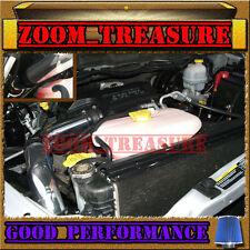 BLACK BLUE 2002-2010/02-10 DODGE RAM 3.7L 4.7L 5.7L COLD AIR INTAKE KIT STG2 3p